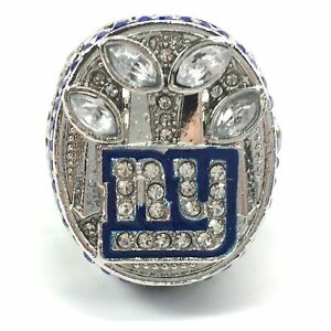 2011 NY Giants Manning Football NFL Super Bowl Silver Plated Championship Ring