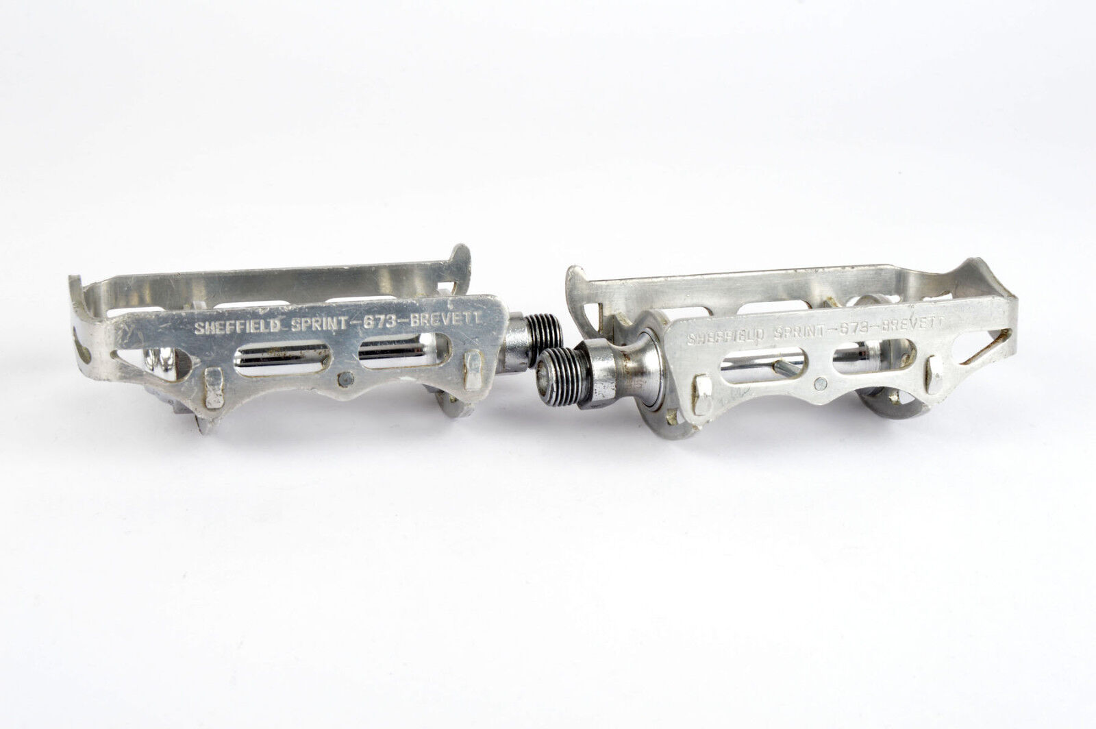 Sheffield Sprint 673 Pedals with english threading from the 1960s -70s