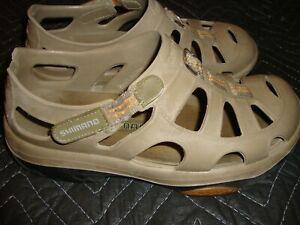 Mens 8 //Womens 10 Fishing Shoes Sandals NAVY /& GRAY Size Shimano Evair Marine