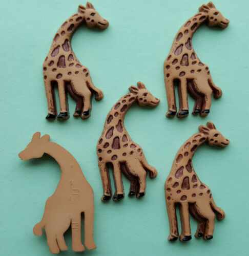Plat à dos girafe-zoo animal afrique african safari dress it up craft boutons