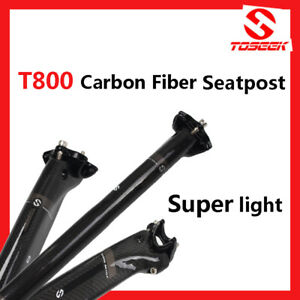 TOSEEK Full Carbon Seatpost Broken Wind Road Bike 27.2//30.8//31.6mm Bicycle rod