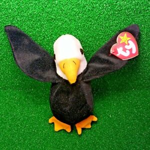 Ty Beanie Baby Baldy The Eagle Retired PVC Canadian Tush - NEW ... c143a913ff85
