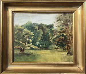 Small ölstudie Sketch-dyrehavn kopenagen Oil Canvas around 1900 - 25 x 28,5 cm