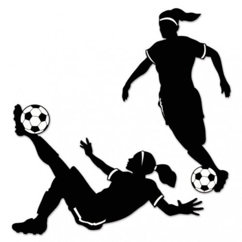 Girl Soccer Silhouettes 28 Inches Birthday Party Decorations