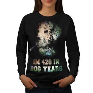 Years Negro mujer 42 Wellcoda para Weed Dog sudadera Jersey Happy Casual Jersey T6A6fRqwn