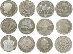 Royal-Mint-Proof-Five-Pound-Coins-Choice-of-Year-1993-to-2018