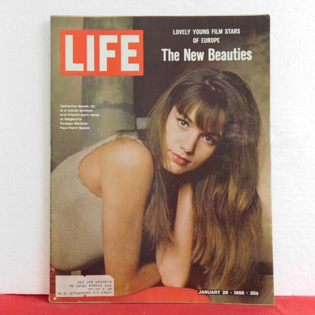 New Beauties Catherine Spaak Life Magazine Gandhi Giacometti January 28 1966!!
