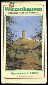 Wanderkarte-topographisch-Witzenhausen-Kirschenstadt-im-Werratal-1989