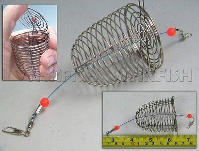 New! 5 Pcs Lot Handmade Fishing Trap Cage Basket Bait Cage Basket Feeder