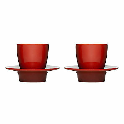 SAGAFORM SET OF TWO ESPRESSO CUPS & SAUCERS (5015916)