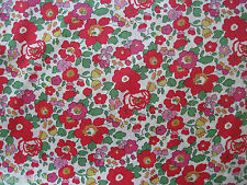 "LIBERTY OF LONDON TANA LAWN FABRIC DESIGN ""Betsy S "" 2.4 METRES (240 CM)"