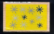 SNOWFLAKES BACKGROUND Snow Winter  Card HAMPTON ART 2013 wood RUBBER STAMP