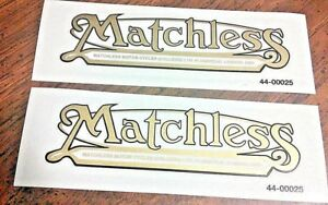 Matchless-Colliers-gold-w-black-edge-rear-fender-gas-tank-vinyl-transfer-pair