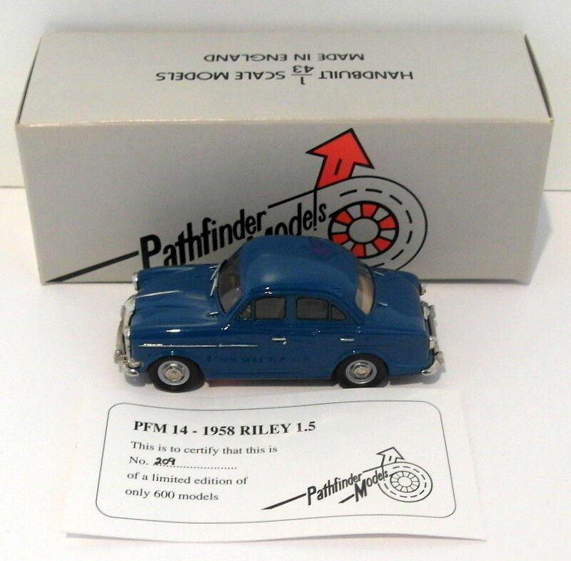 ventas al por mayor Pathfinder Models 1 1 1 43 Scale PFM14 - 1958 Riley 1.5 1 Of 600 azul  muchas sorpresas