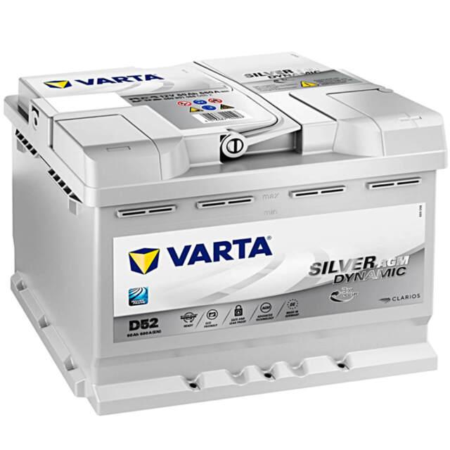 Varta Start-Stop Silver Dynamic AGM D52 12V 60Ah Starterbatterie 680A Akku NEU