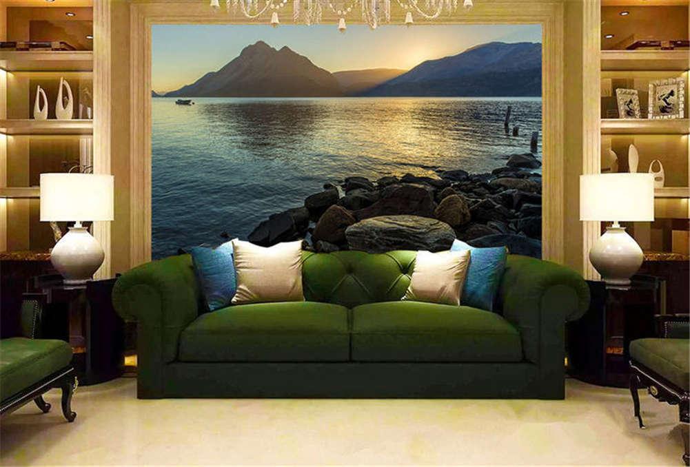 Staple Dark Lake 3D Full Wall Mural Photo Wallpaper Printing Home Kids Decor