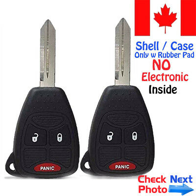 2x New Replacement Keyless Key Fob Case For Chrysler Dodge Caravan Shell Only