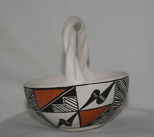 Native-American-Pot-with-Braided-Handle-by-C-Victorino