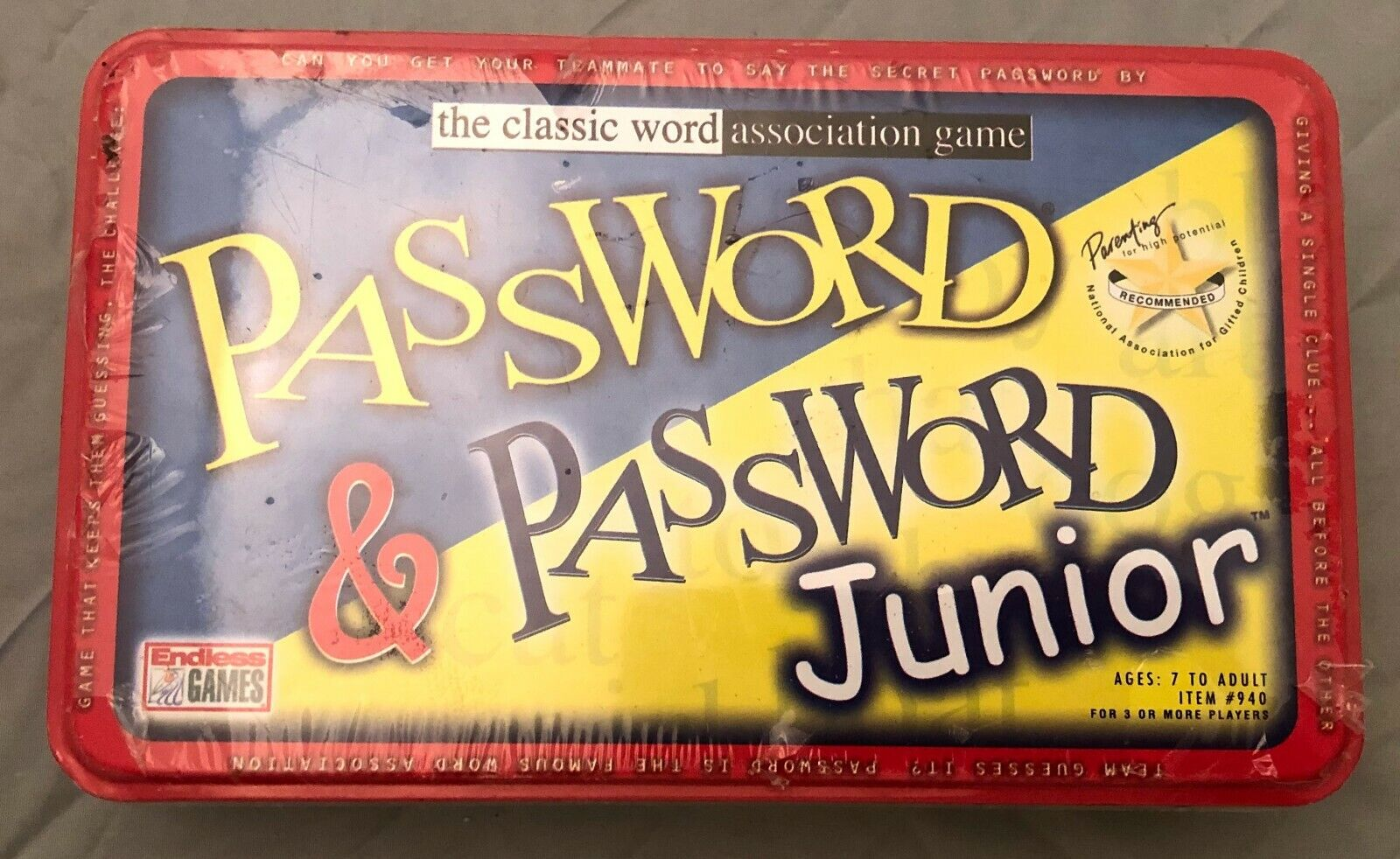 NEW Password and Password Junior Combo Tin Set Family Game Word Association