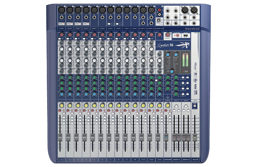 Soundcraft von Harman Unterschrift 16 16 Kanal Mixer Compact Analog Analog Analog Misch Neu b41b3b