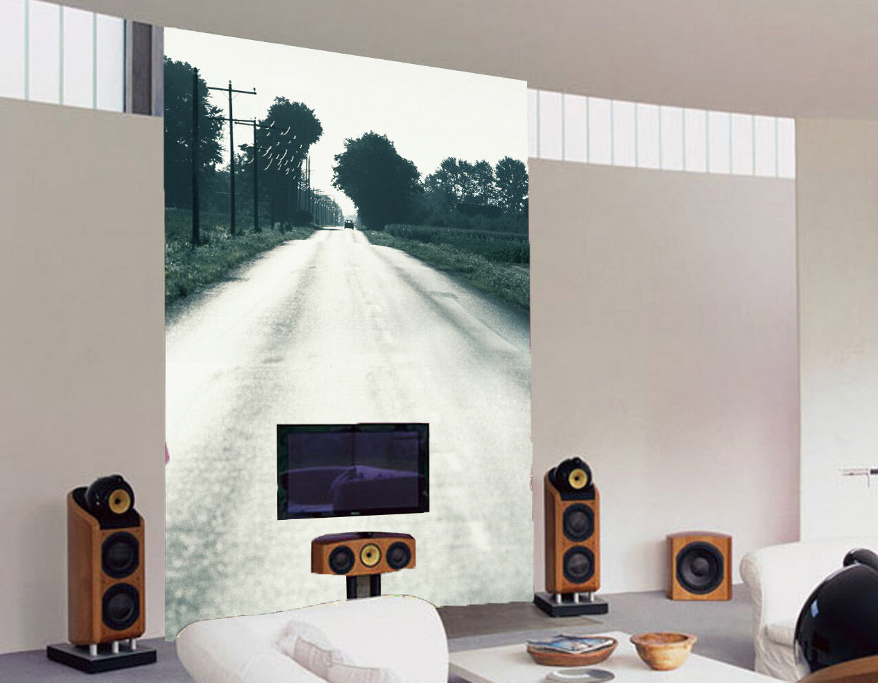 3D Country Road Scenery Wall Paper Wall Print Decal Wall Deco Wall Indoor Murals