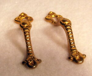 Genial Details About Pair Of Solid Brass Fancy Door Handles With Keyhole