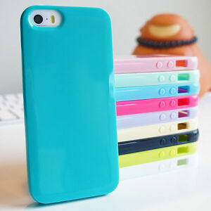 Soft-in-silicone-gel-lucido-sottile-TPU-Bumper-COVER-Custodia-per-iPhone-4-5-5-6-7-8-C-PLUS
