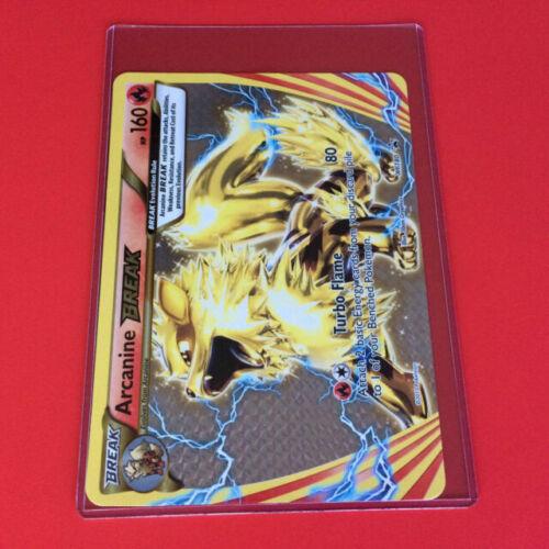 Rare Pokemon Card JUMBO//OVERSIZED Arcanine BREAK XY180 Holo//Shiny