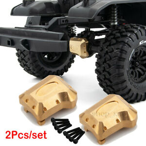 2Pcs-Brass-Weight-Front-Rear-Axle-Diff-Cover-For-Traxxas-TRX-4-1-10-RC-Crawler