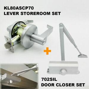 Details about KABA KL SERIES HANDLE STOREROOM LEVERSET DOOR LOCK w 702SIL  DOOR CLOSER