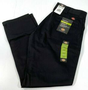 Nuevo Para Hombres Dickies Slim Fit Pierna Pantalones De Trabajo Hilado En Anillo Conico Wp830 Negro 40x30 Ebay