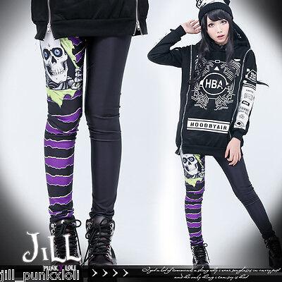 american punk rock halloween horror comic undead legion striped tights J1M2021