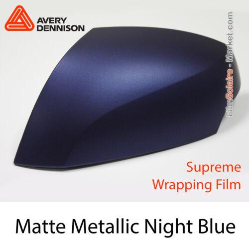 FILM Matte Metallic Night Blue Avery Dennison Wrap AS9100001 Échantillons