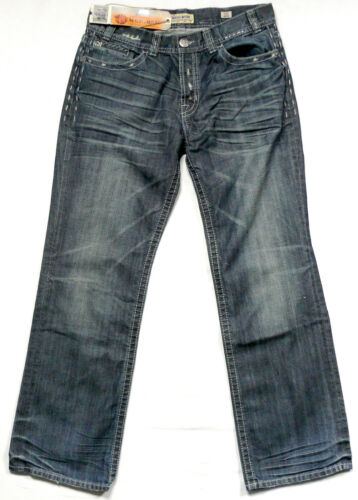MEK DNM USA Jeans w36 l34 men Denim Pantaloni Vintage Blu Grigio used lavoro manuale nuovo