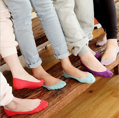 Women's Candy Color Stretch Low Cut Crew Cotton Confort Ankle Sport Casual Socks