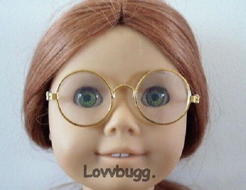 Gold Wire Frame Eye Glasses for 18 inch American Girl Doll Accessory Molly Harry Potter