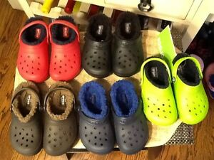 dc194d61b0133 Image is loading Crocs-Kids-Classic-Fuzz-Lined-Clog-Sz-C10