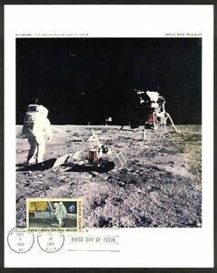C76 1969 Official NASA PHOTOGRAPH First Day Moon Landing ...