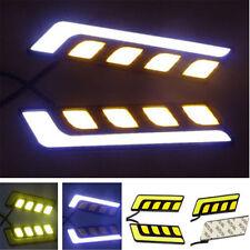 Car Auto Waterproof 12V 2pcs LED COB DRL Driving Daytime Running Lamp Fog Light