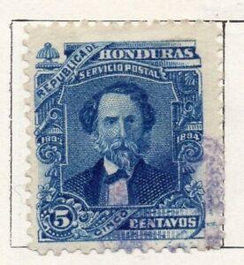 GéNéReuse Honduras 1893 Early Question Fine Utilisée 5c. 098836