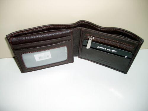 Pierre Cardin-RFID Blocking-Genuine Italian Leather-Men/'s Bifold Wallet+Gift Box