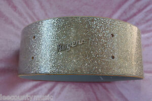 1960-039-s-Rogers-LUXOR-Silver-Sparkle-SNARE-DRUM-Shell-for-Your-Set-LOT-H108