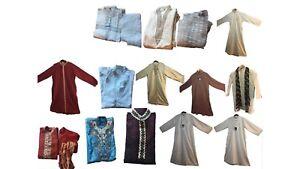 Men-Kids-Islamic-Dress-Jubba-Kurta-Pyjama-Eid-Shalwar-Sherwani-Panjabi-ALL-SIZES