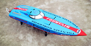 DT-RC-Gasoline-Boat-Hull-G26IP1-Colored-KIT-Only-for-Advanced-Player-Blue-Racing