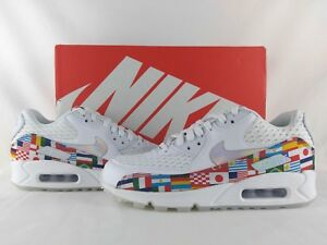 4f26723064 Nike Air Max 90 NIC QS International World Cup Flag White Multi ...