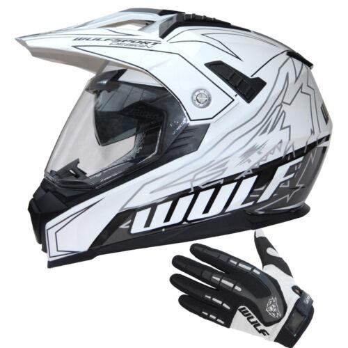 Wulfsport Prima-X Adult Motocross Helmet DVS MX Attack Gloves Off Road Crash