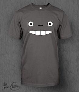 Studio-Ghibli-T-SHIRT-il-mio-vicino-Totoro-FACE-tee-men-039-s-Ponyo-animato-AWAY