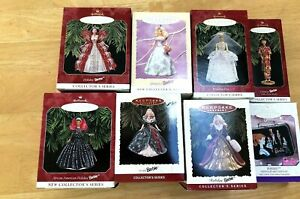 Lot-of-8-Barbie-Hallmark-Keepsake-Collector-039-s-Ornaments-1995-1999-NEW-IN-BOX