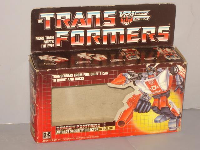 G1 TRANSFORMER AUTOBOT ROT ALERT EMPTY BOX LOT   1