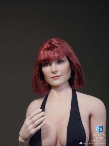 1:6 dstoys CAPELLI CORTI TESTA DI DONNA SCULTURA F//Donna Phicen Corpo Figura D-006